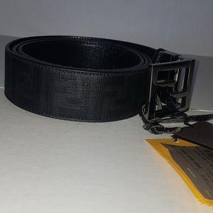 Fendi Zucca Reversible Belt Pu/ nero+ rutenio